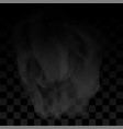water vapor or transparent smoke on checkered vector image vector image