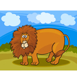 wild lion cartoon vector image
