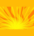 yellow sunny pop art background vector image vector image