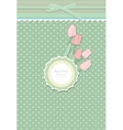 Retro fashion floral greeting card vector image