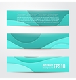 set of abstract blue banners three background vector image
