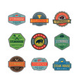 set of vintage steak house logos vector image