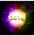 2014 new year firework2 vector image vector image