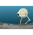 a spherical bug shaped alien robot or vehicle vector image vector image