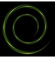 Abstract shiny swirl circle logo background vector image