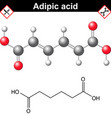 Adipic acid chemical formula vector image vector image