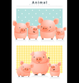 Animal background with Pigs 1 vector image vector image