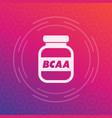 bcaa amino sport nutrition icon vector image