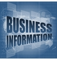 business information on digital touch screen 3d vector image