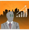 businessman growth up vector image vector image