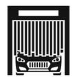 car exit wash garage icon simple style vector image
