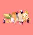 carbohydrate nutrition concept tiny characters vector image