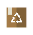 cardboard box package recycle green energy icon vector image vector image