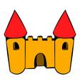 castle icon icon cartoon vector image vector image