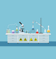 chemistry lab vector image vector image