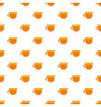coffee cup pattern seamless vector image