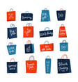 color shopping paper bags with sales advertising vector image