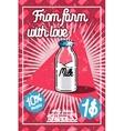 Color vintage Milk poster vector image vector image