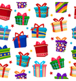 Colorful Gift Boxes Seamless Pattern vector image vector image