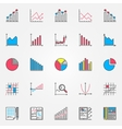 Colorful statistics set vector image