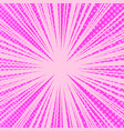 comic page pink bright background vector image vector image