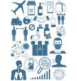 coronavirus bacteria icons 2019-ncov coronavirus vector image