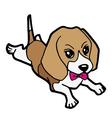cute puppy cartoon vector image vector image