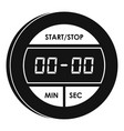 digital stopwatch icon simple style vector image