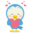 dove with love character vector image