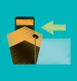 flat icon in shading style cargo ship vector image vector image