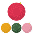 four multi colored christmas balls vector image vector image