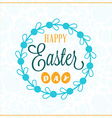 happy easter vintage holiday badge template vector image