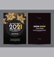 happy new 2021 year flyer design template set vector image vector image
