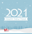 happy new year 2021 card vector image vector image