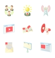 Internet connection icons set cartoon style vector image vector image