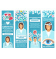 medical clinic specialist banner with doctor tool vector image vector image