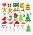 merry christmas and happy new year photo booth vector image