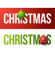 modern trendy colorful typography christmas on a vector image vector image