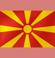 national flag macedonia for sports competition vector image
