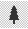 New year tree sign Dark gray icon on transparent vector image