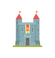 old stone castle with towers ancient architecture vector image vector image