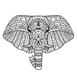 Ornamental White Elephant vector image