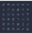 Outline web icon set - Hotel services vector image vector image