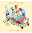 Patient Visit 02 People Isometric vector image vector image