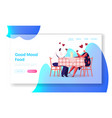 romantic relations meeting website landing page vector image vector image