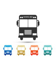 school bus icon isolated on white background vector image