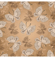 Seamless beige pattern with butterflies vector image vector image