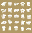 set chef hats vector image