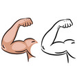 strong muscle arm sketch line vector image