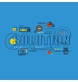thin line consept wit fkat business icons vector image